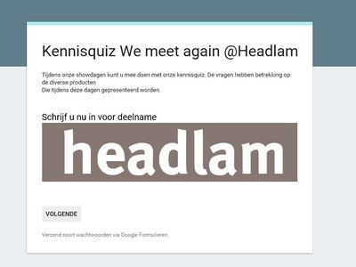 Test uw kennis @Headlam